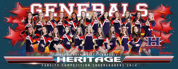 HHS CHEER BANNER 2014 REV YELLOW 10X25